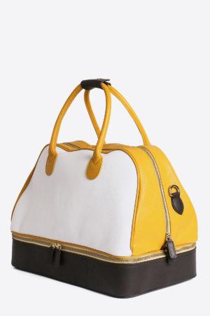 Ancient Sport Bag front view leather waterproof weekender bottom pocket