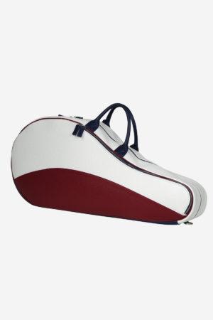 Original Tennis Bag leather waterproof blu red white