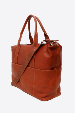 Antique Travel Bag handmade in italy vegetable tanned leather terrida venezia
