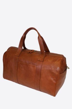 Travel Bag duffle bag handmade in italy vegetable tanned leather made in italy terrida venezia italian bag