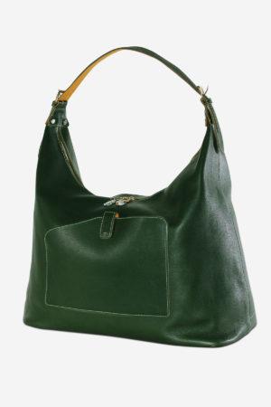 Polychrome Bag handmade in italy vegetable tanned leather duffel travel bag terrida venezia murano glass