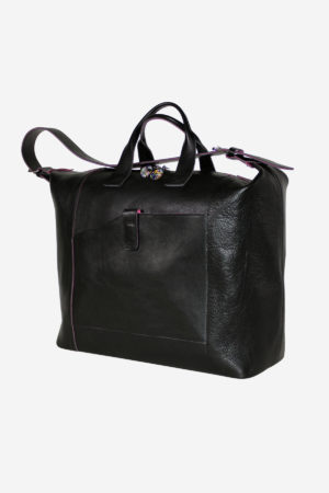 Venetian Travel Bag handmade in italy terrida vegetable tanned leather murano glass venezia italy