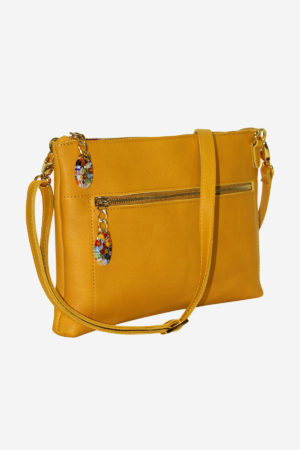 Shiny Handbag vegetable tanned leather handmade in italy murano glass venezia