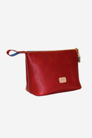 Cheerful Beauty Case handmade in italy vegetable tanned leather terrida venezia murano glass