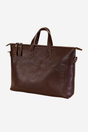 Modern Briefcase vegetable tanned leather handmade in italy terrida venezia leather briefcase murano glass