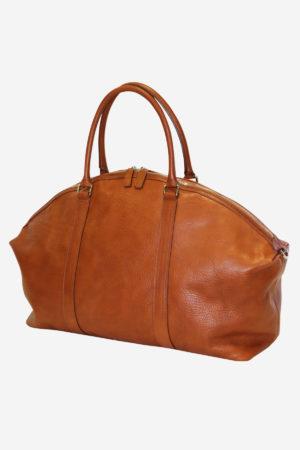 Dome Bag handmade in italy vegetable tanned leather luxury travel business duffle bag handbag terrida venezia italian bag leather