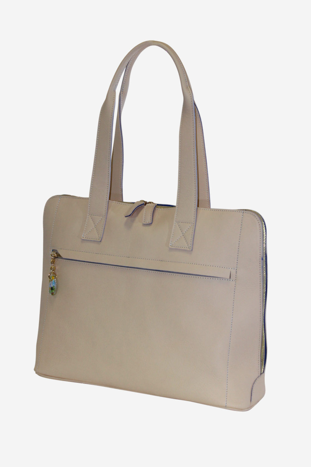 Colorful Laptop Briefcase handmade in italy vegetable tanned leather microfiber terrida venezia murano glass laptop case