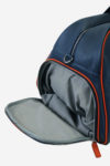 Advanced Sport Bag inner down pocket cotton and waterproof leather made in italy