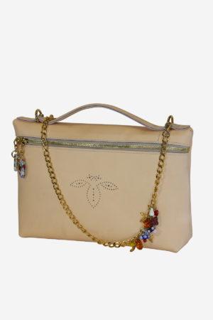 Precious Handbag handmade in italy vegetable tanned leather terrida venezia murano glass handbag shoulderbag