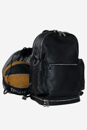 Leather Outdoor Backpack black waterproof sport basket