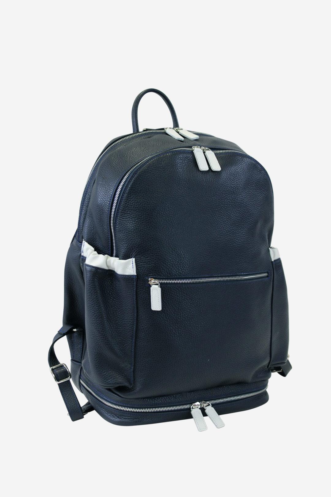 Multisport Backpack blue leather waterproof resistant outdoor