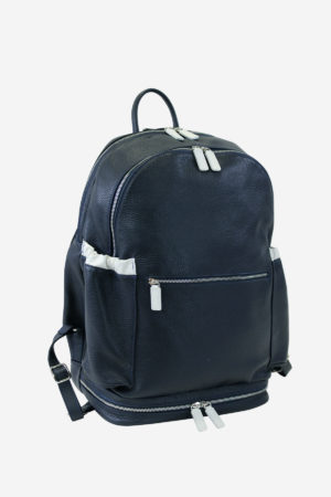 Multisport Backpack blue leather waterproof resistant outdoor