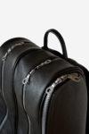 Wide Backpack Tennis Bag zip detail waterproof leather handmade in italy