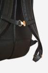 Wide Backpack Tennis Bag detail shoulder waterproof leather handmade in italy