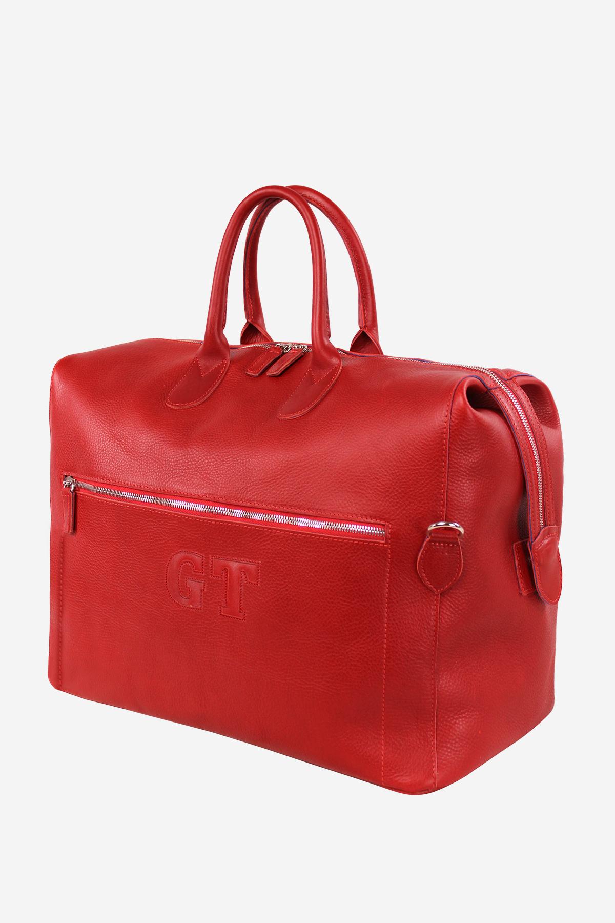 Shield Duffle Bag handmade in italy vegetable tanned leather travel business terrida venezia italian bags