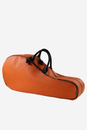 Modern Tennis Bag orange waterproof leather