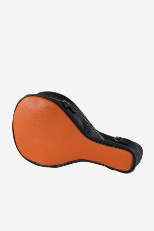 Modern Padel Bag front view orange black waterproof leather