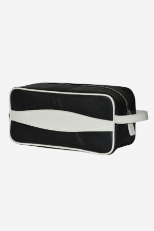 Advanced Beauty Case black white waterproof black leather