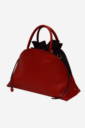 Major Hemispheric Handbag handmade in italy vegetable tanned leather made in italy two bags in one