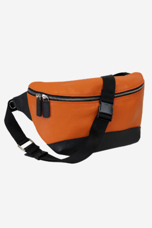 Modern Pouch orange leather waterproof
