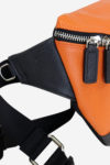 Modern Pouch detail orange leather and belt