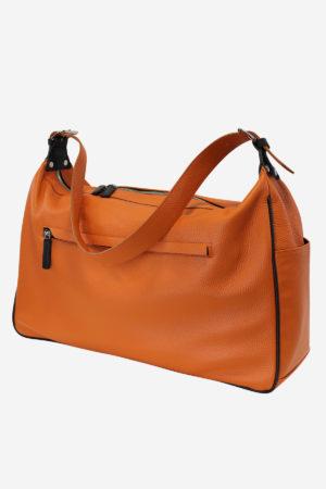 Modern Sport Bag orange waterproof leather handmade
