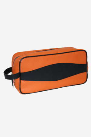 Modern Shoe Bag orange waterproof leather