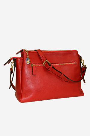 San Marco Bag handmade in italy terrida venezia vegetable tanned leather crossbody bag murano glass pendant