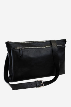 Elegant Crossbody Bag handmade in italy vegetable tanned leather terrida venezia italy business travel fashion