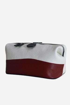 Original Sport Beauty Case waterproof leather white red blue