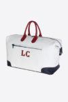 Antique Duffle Bag 038 customizable initials luxury duffle travel sport bag leather