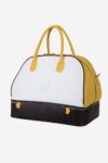 Ancient Sport Bag side view resistant leather white yellow dark brown