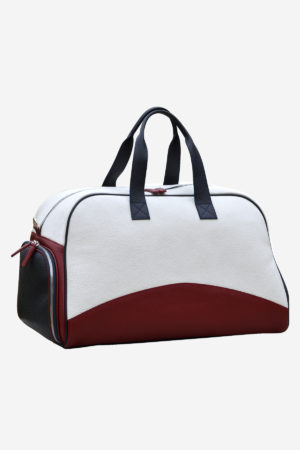 Original Sport Bag front leather waterproof white red blue
