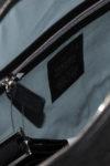 Leather Padel Bag inner cotton pocket black