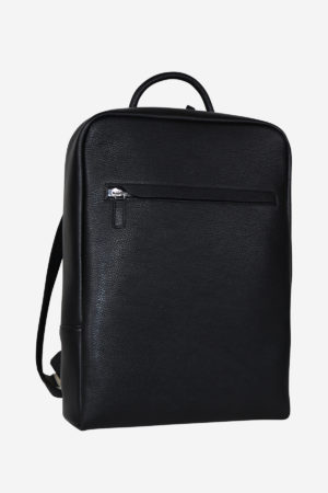 Sinuous Laptop Backpack black waterproof leather