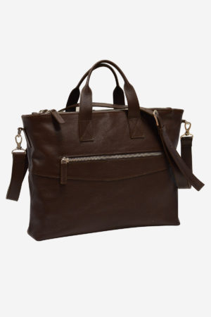 The Shining Briefcase handmade in italy vegetable tanned leather terrida venezia marco polo collection business travel classic