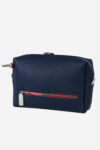 Golf accessory back zip blue white red waterproof leather