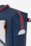 Golf accessory tee score blue white red waterproof leather