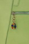 Graceful Bag handmade in italy vegetable tanned leather murano glass pendant