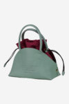 Minor Hemispheric Handbag handmade in italy vegetable tanned leather 100% made in italy terrida venezia two bags in one