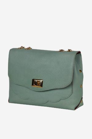 Old Fashioned Bag metal closure handbag shoulderbag handmade in Italy vegetable tanned leather