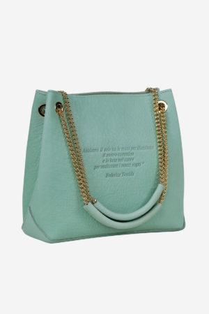 Loving Handbag handmade in italy vegetable tanned leather poetry bag lovunlimited venezia terrida